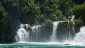 Водопад в национальном парке Хорватии в KRKA Стоковое Фото