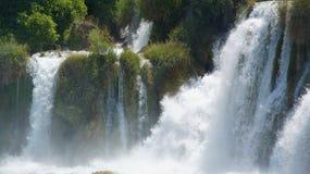 Водопад в национальном парке Хорватии в KRKA Стоковые Изображения RF