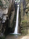 Водопад в озере garda Стоковые Фотографии RF