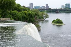 Водопад в Оттаве, Канаде Стоковые Фото