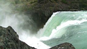 Водопад в Патагонии, chile движение медленное сток-видео