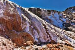 Водопад в ряде Gongga с льдом Стоковая Фотография RF