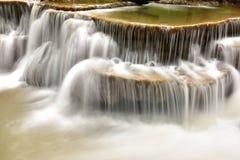 Водопад в тропическом глубоком лесе Стоковое Фото