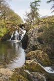 Водопад в участках земли Йоркшира стоковые фото