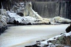 Водопад в Финляндии Стоковое Изображение
