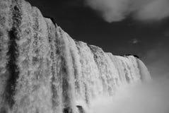 Водопад в B&w Стоковое Фото