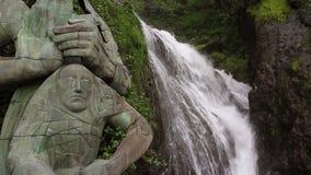Водопад в Georgia видеоматериал