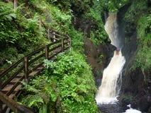 Водопад в Glenariff, Северной Ирландии Стоковое Изображение