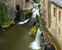 Водопад в saarburg Стоковая Фотография