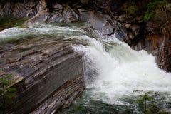 Водопад в Valle Verzasca Стоковая Фотография
