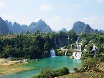 водопад граници detian Стоковое Фото