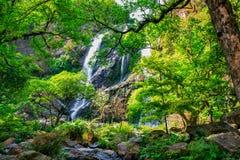 водопад глубокого национального парка горы пущи тайский В глубоком лесе Стоковое фото RF