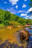 водопад глубокого национального парка горы пущи тайский В глубоком лесе Стоковые Изображения RF