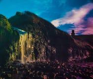 Водопад залива Kimmeridge Стоковые Изображения RF