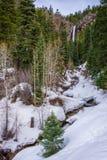 Водопад зимы Колорадо Стоковая Фотография RF