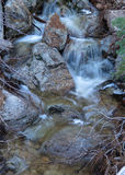 Водопад зимы около озера Big Bear, Калифорнии Стоковые Фотографии RF