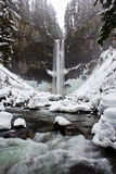 Водопад зимы стоковая фотография
