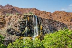 Водопад Иордания горячих источников Ma'in Стоковые Изображения RF