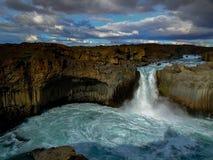 водопад Исландии Стоковые Изображения