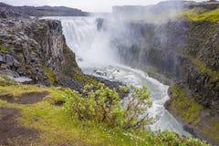 водопад Исландии dettifoss Стоковые Изображения RF