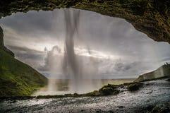 Водопад Исландия Seljalandsfoss стоковое фото rf