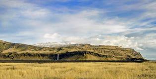 Водопад Исландия Seljalandsfoss Стоковое Изображение