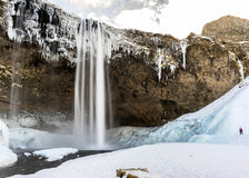 Водопад Исландия Seljalandsfoss Стоковые Фотографии RF
