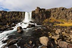 Водопад Исландия Thingvellir Стоковое Изображение RF