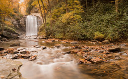 Водопад и лес осенью Стоковое фото RF