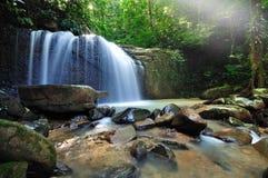 Водопад и лучи Стоковое Изображение RF