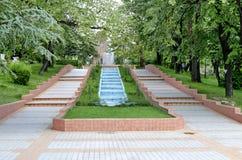 Водопад каскада сада Стоковое фото RF