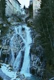 Водопад между городком плохим Gastein, Австрией стоковое фото rf