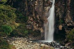 Водопад национального парка, Новая Зеландия Стоковая Фотография