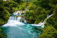 Водопад национального парка Krka, Хорватии Стоковые Фотографии RF