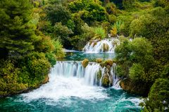 Водопад национального парка Krka, Хорватии Стоковое фото RF