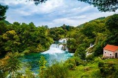 Водопад национального парка Krka, Хорватии Стоковые Изображения RF