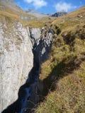 Водопад на заводи горы Стоковые Изображения
