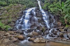 Водопад на западной Суматре, Индонезии Стоковое фото RF