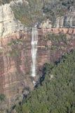 Водопад на зиме в Tavertet, Каталонии Стоковые Изображения RF