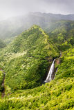 Водопад на Кауаи Стоковые Фотографии RF