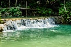 Водопад на провинции Champasak, Лаосе Стоковые Изображения RF