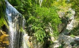 Водопад на реке горы Стоковые Изображения