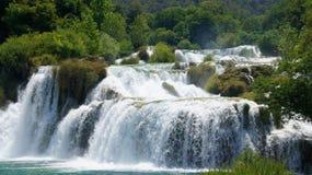Водопад на реке Стоковая Фотография