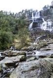Водопад на юге  Норвегии стоковые изображения rf