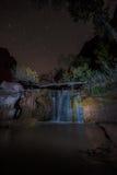 Водопад оврага койота на парадной лестнице Escalante ночи Стоковые Фотографии RF