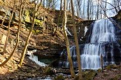 Водопад около Гамильтона, ДАЛЬШЕ, Канада Стоковая Фотография