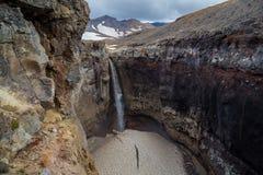 Водопад опасный, Камчатка Стоковое Изображение RF