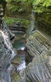 Водопад, парк штата Watkins Глена, Нью-Йорк, нет Стоковые Фотографии RF