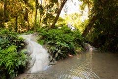 Водопад рая липкий в Таиланде Стоковая Фотография