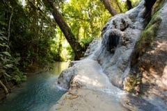 Водопад рая липкий в Таиланде Стоковое фото RF